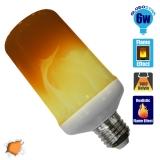Διακοσμητική Λάμπα LED 6W E27 Εφέ Φλόγας με 3 Λειτουργίες GloboStar 44440