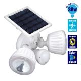Αυτόνομος Ηλιακός Φωτοβολταϊκός Προβολέας Ασφαλείας CREE LED 30 Watt IP 65 με Αισθητήρα Νυχτός - Κίνησης Ψυχρό Λευκό GloboStar 12110