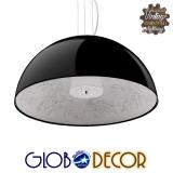 Μοντέρνο Κρεμαστό Φωτιστικό Οροφής Μονόφωτο Μαύρο Γύψινο Καμπάνα Φ60 GloboStar SERENIA BLACK 01270