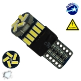 Λαμπτήρας LED T10 Can Bus με 15 SMD 4014 Samsung Chip 12v 6000k GloboStar 04483