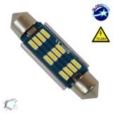 Σωληνωτός LED 42mm Can Bus με 12 SMD 4014 Samsung Chip 12 Volt Ψυχρό Λευκό GloboStar 40178