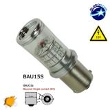 Λαμπτήρας BAU15S 48 SMD 4014 Can Bus 12v Πορτοκαλί GloboStar 05473