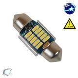 Σωληνωτός LED 31mm Can Bus με 10 SMD 4014 Samsung Chip 12 Volt Ψυχρό Λευκό GloboStar 40175