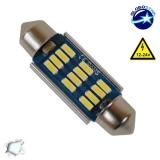 Σωληνωτός LED 39mm Can Bus με 12 SMD 4014 Samsung Chip 12 Volt Ψυχρό Λευκό GloboStar 40177