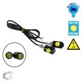 Σετ Φωτισμού LED Πινακίδας ή DRL για Αυτοκίνητα 3 Watt 12 Volt Ψυχρό Λευκό GloboStar 55200