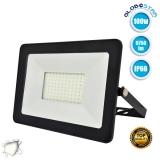 Προβολέας LED Slim Pad 100 Watt 230v Φυσικό Λευκό 4500k IP66 GloboStar 11136