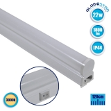 T5 Φωτιστικό LED 22 Watt 230v 120cm Θερμό Λευκό 3000k IP44 GloboStar 54008