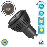 LED Σποτ GU10 7 Watt CREE 230v Θερμό Λευκό 2700k 10° Μοίρες 910 Lumen Dimmable GloboStar 77153
