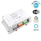 SONOFF 4 Channel Smart Home Switch WiFi - Ασύρματος Έξυπνος Διακόπτης Ράγας με 4 Κανάλια GloboStar 48452
