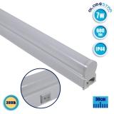 T5 Φωτιστικό LED 7 Watt 230v 30cm Θερμό Λευκό 3000k IP44 GloboStar 54002