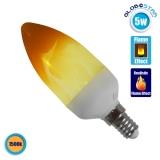 Διακοσμητικό Κεράκι LED 5W E14 Εφέ Φλόγας με 2 Λειτουργίες GloboStar 44442