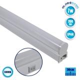 T5 Φωτιστικό LED 7 Watt 230v 30cm Ψυχρό Λευκό 6000k IP44 GloboStar 54000