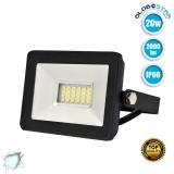 Προβολέας LED Slim Pad 20 Watt 230v Ψυχρό Λευκό 6000k IP66 GloboStar 11141