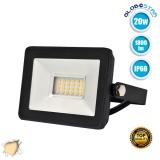 Προβολέας LED Slim Pad 20 Watt 230v Θερμό Λευκό 3000k IP66 GloboStar 11143