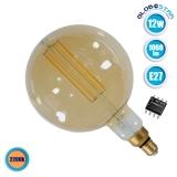 Λαμπτήρας LED Edison Filament Retro Μελί E27 12 Watt G200 Pitayas Θερμό Λευκό 2200k Dimmable GloboStar 44038