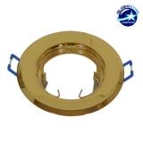 Χωνευτή Στρογγυλή Βάση για Spot Φ92 Χρυσή Σταθερή GloboStar 90032