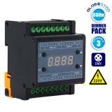 Dimmer Pack Ράγας 660 Watt Trailing Edge για LED Προϊόντα 220 Volt 3 Καναλιών DMX512 GloboStar 50043