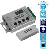 Ασύρματο LED Digital Controller HC03 2048 IC DMX512 SD CARD για LED Digital Strip RGB GloboStar 88768