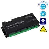 LED DMX 512 RGB Controller 24 Channels 12V 864 Watt - 24V 1728 Watt GloboStar 15142