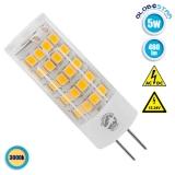Λάμπα LED G4 5 Watt 12-24 Volt DC Θερμό Λευκό GloboStar 07437