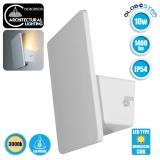 LED Φωτιστικό Τοίχου Απλίκα Αρχιτεκτονικού Φωτισμού Square Back Light Λευκό IP54 10 Watt CREE Θερμό Λευκό GloboStar 93050