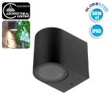 LED Φωτιστικό Τοίχου Αρχιτεκτονικού Φωτισμού Μαύρο Down GU10 IP65 GloboStar 90090