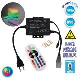 Ασύρματος RGB Controller για NEON FLEX 1500 Watt GloboStar 22617