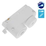 Μονοφασικός Connector 2 Καλωδίων Αντάπτορας Κρέμασης Φωτιστικών για Λευκή Ράγα Οροφής GloboStar 93122