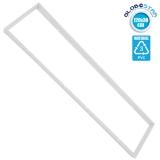 Πλαίσιο Στήριξης PVC Επιτοίχιας Τοποθέτησης για LED Πάνελ 120x30 Λευκό GloboStar 01817