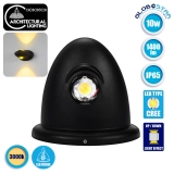LED Φωτιστικό Τοίχου Αρχιτεκτονικού Φωτισμού Up Down Μαύρο IP65 10 Watt CREE Θερμό Λευκό GloboStar 93068