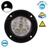 Χωνευτό Προβολάκι LED Στρογγυλό 30 Watt 10-30 Volt Ψυχρό Λευκό GloboStar 29989