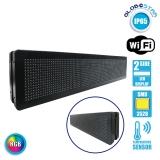 Αδιάβροχη Κυλιόμενη Επιγραφή SMD LED WiFi RGB Διπλής Όψης 100x20cm GloboStar 90127