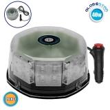Φάρος Οδικής Βοήθειας Στρογγυλός Οροφής 40 Watt 10-30 Volt DC Πορτοκαλί με Μαγνήτη GloboStar 34230