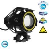 Προβολάκι LED TRANSFORMER U7 Cree LED 15 Watt 3000 Lumen 12 - 80 Volt DC GloboStar 77660