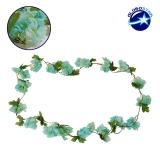 Τεχνητό Κρεμαστό Φυτό Διακοσμητική Γιρλάντα Μήκους 2.2 μέτρων με 18 X Άνθη Κερασιάς Γαλάζιο GloboStar 09023
