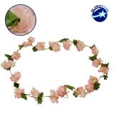 Τεχνητό Κρεμαστό Φυτό Διακοσμητική Γιρλάντα Μήκους 2.2 μέτρων με 18 X Άνθη Κερασιάς Ροζ Σομόν GloboStar 09024