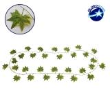 Τεχνητό Κρεμαστό Φυτό Διακοσμητική Γιρλάντα Μήκους 2.2 μέτρων με 30 X Φύλλα Σφενδάμης Πράσινα GloboStar 09040