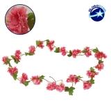 Τεχνητό Κρεμαστό Φυτό Διακοσμητική Γιρλάντα Μήκους 2.2 μέτρων με 18 X Άνθη Κερασιάς Φούξια GloboStar 09021