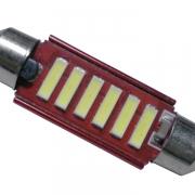 Σωληνωτός LED 42mm 12v Can Bus με 6 SMD 7020 6000k GloboStar 55873