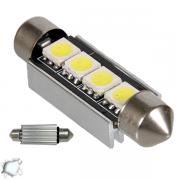Σωληνωτός LED 42mm Can Bus με 4 SMD Ψυχρό Λευκό GloboStar 67440