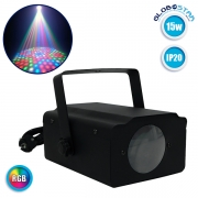 LED Moon Flower Light Projector Μηχανή Εφέ 15 Watt RGB GloboStar 51130