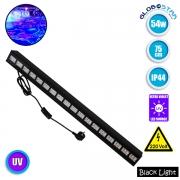 LED Μπάρα Φωτισμού UV Black Light 54 Watt 75cm GloboStar 05031