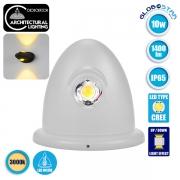 LED Φωτιστικό Τοίχου Αρχιτεκτονικού Φωτισμού Up Down Λευκό IP65 10 Watt CREE Θερμό Λευκό GloboStar 93070