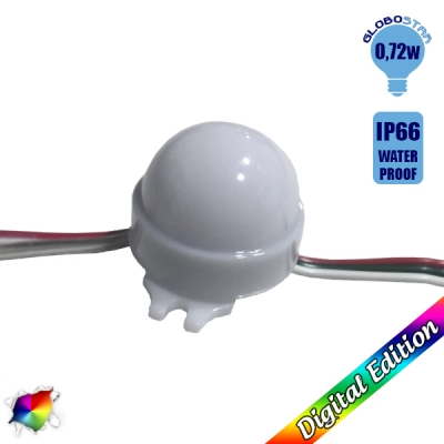 LED Magic Digital Στρογγυλό Module Φ3 CM RGBW 0.72W 12 Volt SET 20 pcs GloboStar 30544