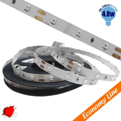 Eco Ταινία LED 4.8 Watt 12 Volt Κόκκινο IP20 GloboStar 33403
