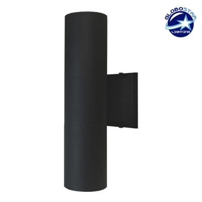 Φωτιστικό Τοίχου Wally Μαύρο Αλουμινίου IP65 Up / Down Gu10 GloboStar 90062