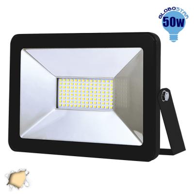 Προβολέας LED Slim Pad 50 Watt 230v Θερμό GloboStar 11119