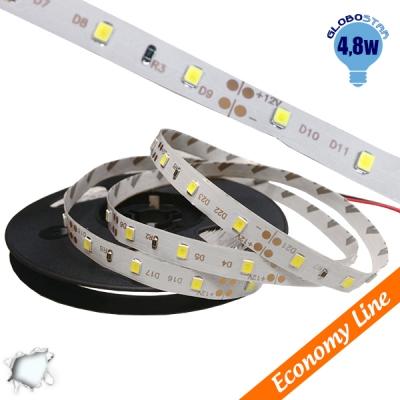 Eco Ταινία LED 4.8 Watt 12 Volt Ψυχρό Λευκό IP20 GloboStar 33401