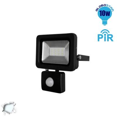 Προβολέας LED Slim Pad 10 Watt 230v Ψυχρό με Αισθητήρα GloboStar 11126