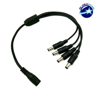 Feme Connector σε 4x Male Connector 5.5*2.1 GloboStar 77552